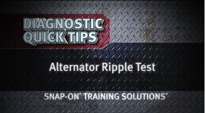 Picture of Alternator Ripple Test Diagnostic Quick Tips