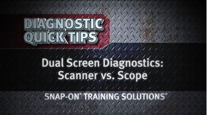 Picture of Dual Screen Scanner vs Scope Diagnostic Quick Tips