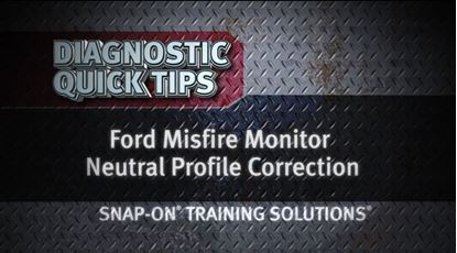 Picture of Ford Misfire Monitor Neutral Profile Correction Snap on Training