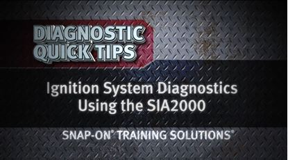 Picture of Ignition System Diagnostics Using SIA2000 Diagnostic Quick Tip Snap-on Training