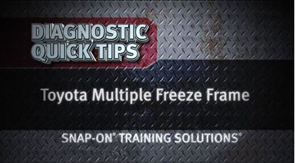 Picture of Toyota Multiple Freeze Frame Diagnostic Quick Tips Snap-on Training