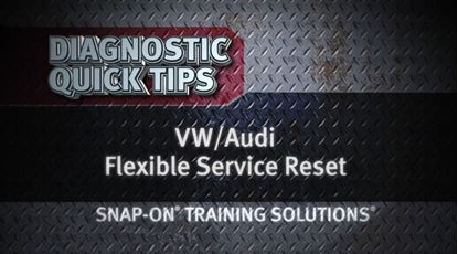 Picture of VW Audi Flexible Service Reset Diagnostic Quick Tips Snap-on Training