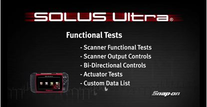 Picture of Scanner Functional Tests SOLUS™ Ultra (Part 6 of 8)