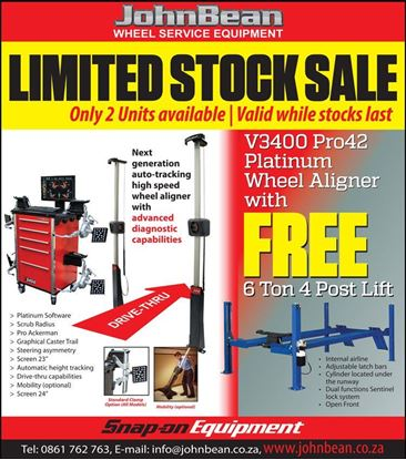 Picture of JohnBean Wheel Aligner and 6 Ton Lift Limited Offer