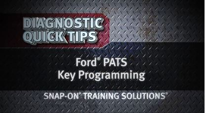 Picture of Ford PATS Key Programming Diagnostic Quick Tips Snap on Training