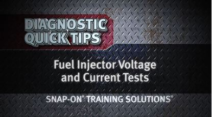 Picture of Fuel Injector Voltage & Current Tests Diagnostic Quick Tips