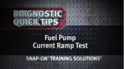 Picture of Fuel Pump Current Ramp Test Diagnostic Quick Tips Snap on Training