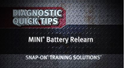Picture of MINI Battery Relearn Diagnostic Quick Tips Snap on Training