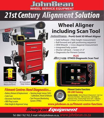Picture of Wheel Aligner including Scan Tool